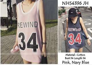 NEW ! PINK ONLY - Rewind top