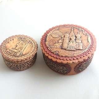 木制手工藝雕刻飾物盒 Wooden Jewelry Boxes
