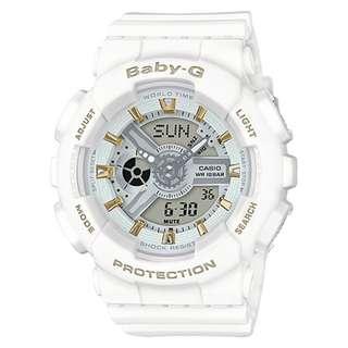 CASIO Baby-G BA-110 series BA-110GA 白色 BabyG BA110GA