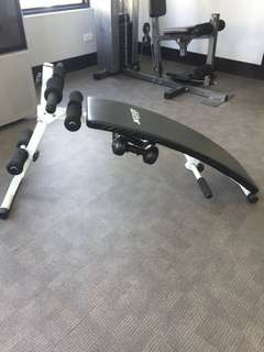 SIT-UPS BENCH WITH DUMBELLS