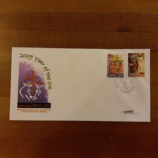 Year of Ox 2009 First Day Cover (Netherlands Antilles)