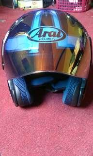 Helmet Arai Ram 3 Speed King Maroon Copy Original Airbrush
