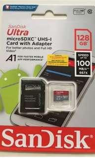 BRANDNEW Sandisk 128GB Class10 A1 Ultra Micro SD 100MB/s