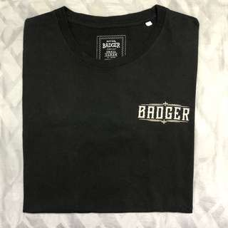 Badger Streetwear Style Black T-Shirt Graphic Logo