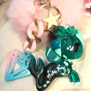 Customised Mermicorno Unicorno Tokidoki jujube Cerulean bagcharm bag keychain key chain fob