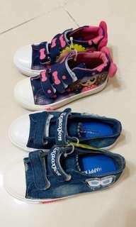 HAPPY KID  两對布鞋  98%新  共售HK$1O0  不散賣