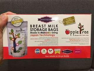 Apple Tree Breastmilk bags