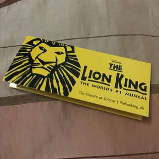 The Lion King VIP Ticket