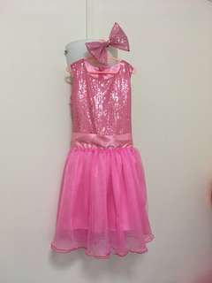Pink sequin shimmer party dress