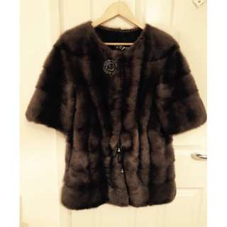 Russian 100% real mink fur coat/jacket m 8-12 ysl saga dior