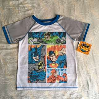 [BN] Warner Brother Justice League T-shirt (DC Comic Hero T Shirt)