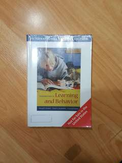 Introduction to Learning and Behaviour - Third 3rd Edition