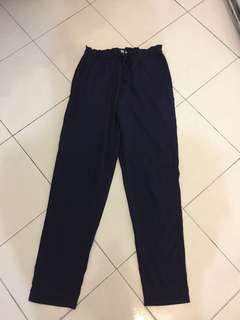 Navy blue Chiffon pants