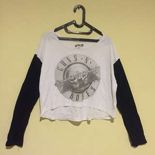 Croptop Guns n roses cotton on