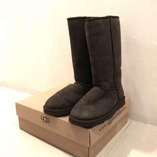UGG US24/UK4 深棕中筒靴毛靴雪靴
