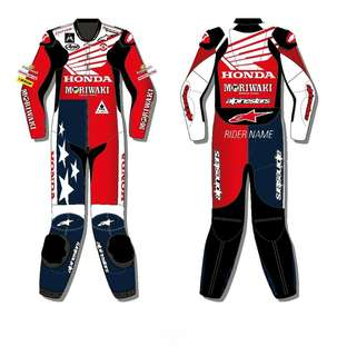 Honda Motorcycle Leather Racing Suit