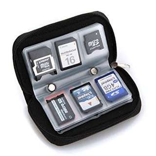 Memory card storage pouch