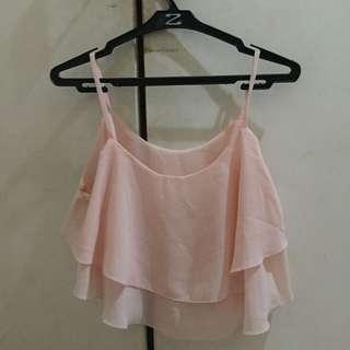 Pink Crop Cami