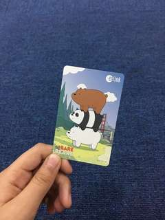 WE BARE BEARS EZLINK CARD