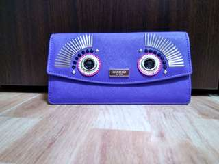 🎀 Kate Spade Monster Liana Warm And Fuzzy Nightlife Blue Wallet