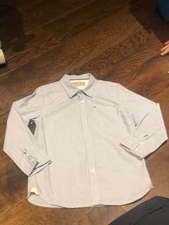 Boys Blue Checked Long Sleeve Shirt 6yo