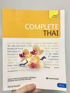 Teach yourself Thai language book with free audio