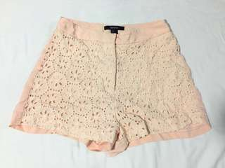 Forever 21 peach shorts