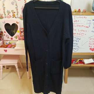 Wool Black Cardigan for woman