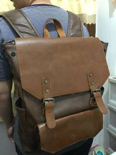 Backpack three box 80% leather