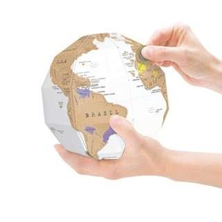 Scratch Map Globe ( 3D )