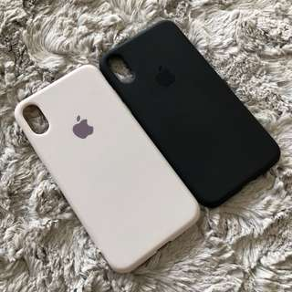 SILICON CASE with APPLE LOGO for IPHONE X