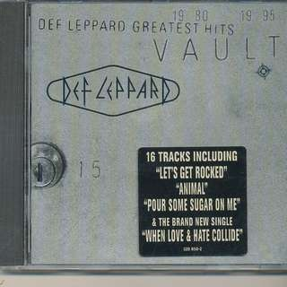 Vault: Def Leppard Greatest Hits (AUDIO CD) MADE IN USA [z8]
