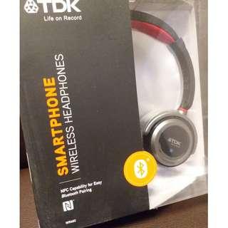 全新TDK WR680紅黑色耳機