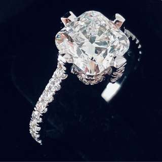 2.05 VVS2 F GIA Diamond on 18K White Gold