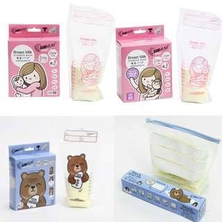 Sunmum Triple Zipper Breastmilk Storage Bag 15/20/50 pcs