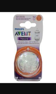 Avent Natural Teats 6m+ [Thicker Flow]