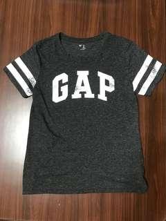 GAP 灰黑做舊logo上衣