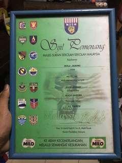 Vintage sijil milo rare
