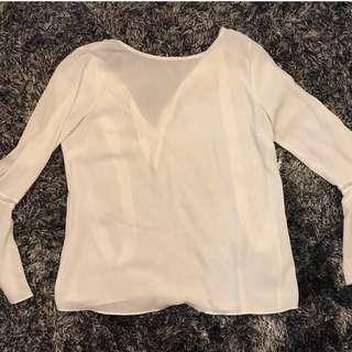 Forever 21 Bell Sleeve Blouse with Ribbon Detail