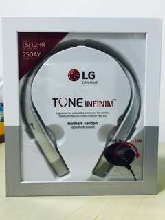 LG Premium Bluetooth Stereo Headset HBS-920 Sliver