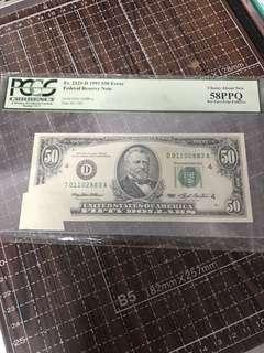 1 piece $50 us error