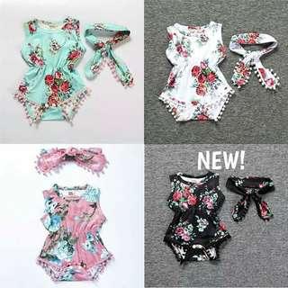Baby Girl Floral Romper set (Last few pcs left!)