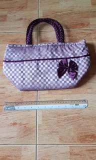 Preloved purple checkers  NaRaYa bag