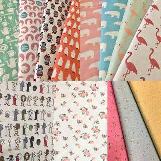Raya promotion combo offer 8pcs fabric/kain diy cute cotton linen cloth