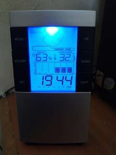 #3x100 Digital Clock with Temperature