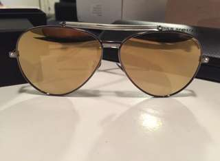 Brand new Authentic Alexander McQueen metal frame pilot sunglasses