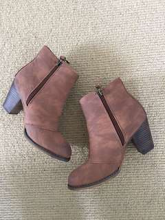 BRAND NEW Therapy Brown Ankle Boots