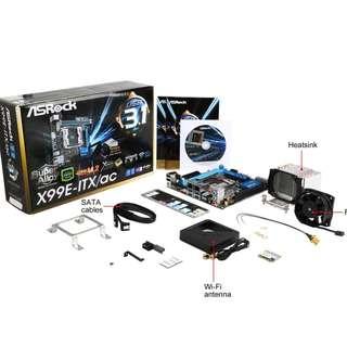 ASRock Mini ITX LGA 2011-3 Motherboards X99E-ITX/AC