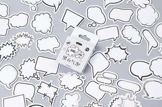 Speech Bubbles Scrapbook / Planner Stickers #100