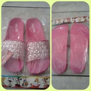 Sandal Santai Pink Red Silver -SP048